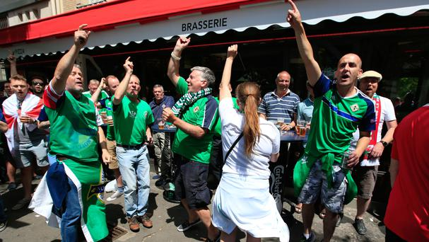 Northern Ireland fans - and those of the Republic of Ireland - have been praised by Paris mayor Anne Hidalgo