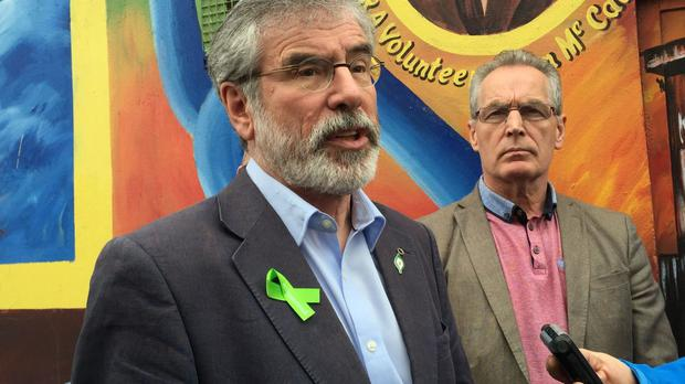 Sinn Fein leader Gerry Adams calls for united Irish island