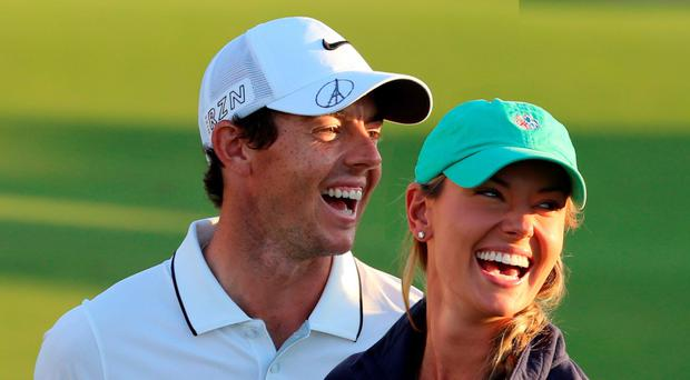 Rory McIlroy and fiancee Erica Stoll relaxing
