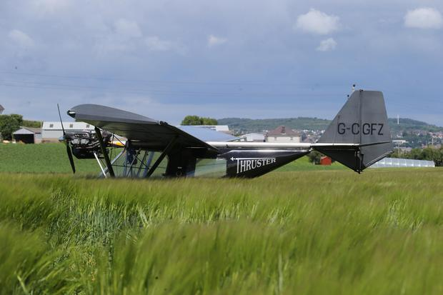 A pilot had to make an emergency landing in a field in County Down after the microlight he was flying suffered engine failure