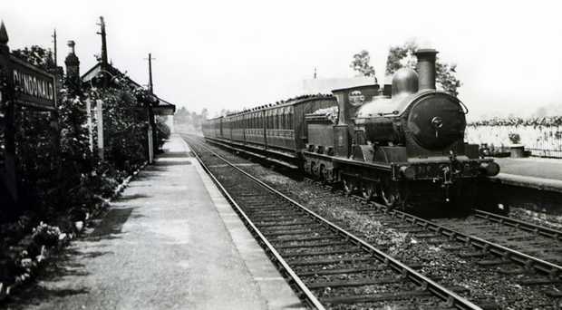 Dundonald station, now the Comber Greenway