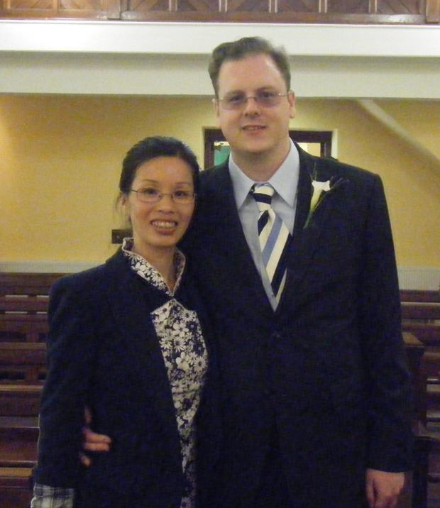 James Cassley with wife Hong