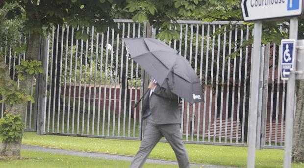 Ryan Abraham going into court in Coleraine yesterday