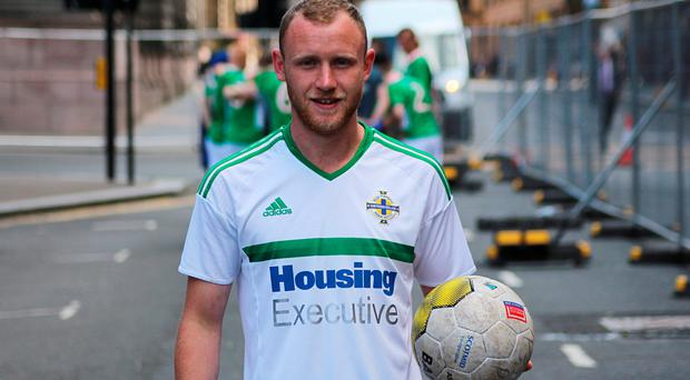 New confidence: Gerard Bannon starred in Homeless World Cup