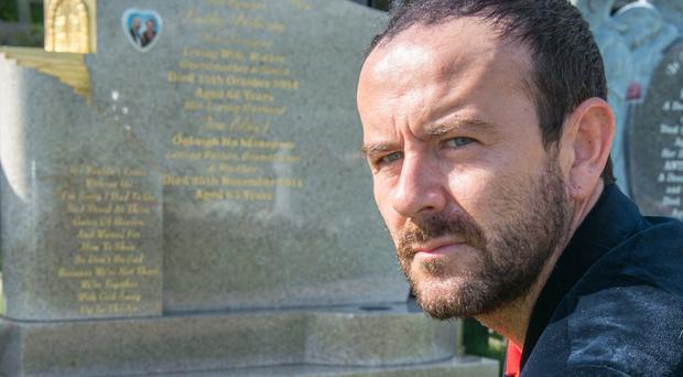 Micky Doherty at the graveside