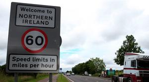The border between Northern Ireland and the Republic in the village of Bridgend, Co Donegal
