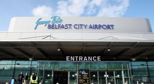 The incident occurred at George Best Belfast City Airport