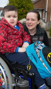 Little Callum McCorriston with his mother Laura