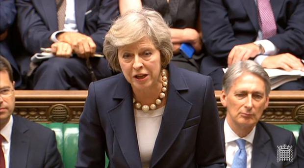 Theresa May and Jeremy Corbyn clashed in the Commons yesterday