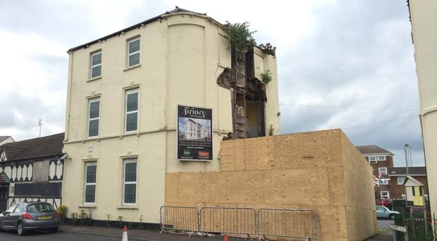 The derelict building at 1 Stewart's Place in Holywood