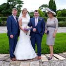 Mervyn Storey, wife Christine (far right), Lydia Storey and Ryan Moore