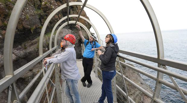 The Gobbins coastal walkway reopened last year after a £7.5m revamp