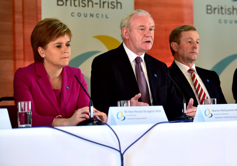 Nicola Sturgeon, Martin McGuinness and Enda Kenny