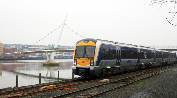 An ongoing security alert has stopped trains in Carrickfergus.