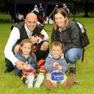 Alan Tully of St Laurence O'Toole with wife Michelle and kids Emilia and Alex
