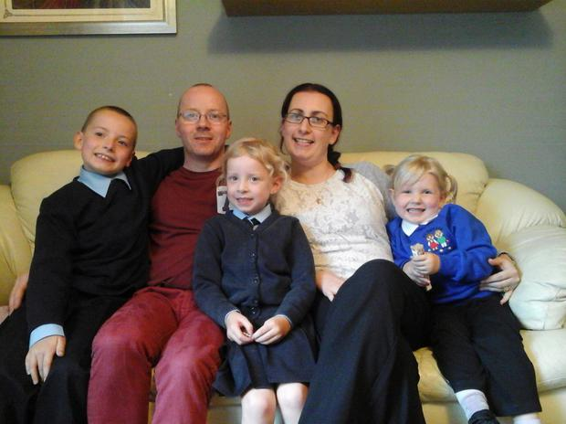 Valerie Armstrong with husband Seamus and children Dylan, Lucy and Sophie-Belle