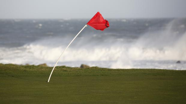 Players will be hoping conditions are kinder than this when the Irish Open is held at Portstewart golf club next year