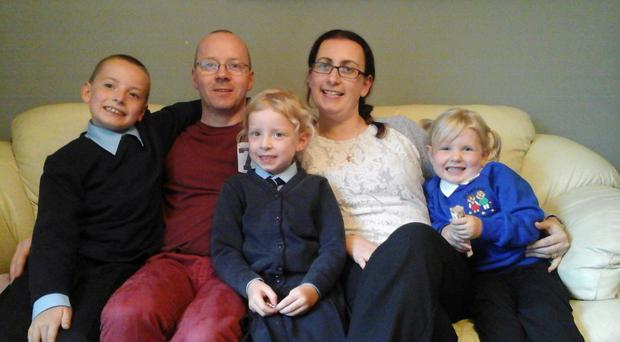 Valerie with husband Seamus and children Dylan (10), Lucy (7) and five-year-old Sophie-Belle