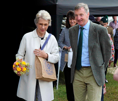 The Duchess of Gloucester with Edwin Boyd at the Clogher Valley Show