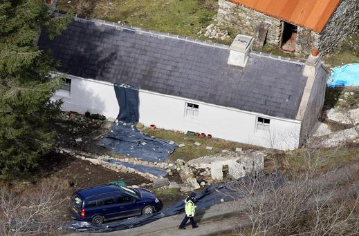 The cottage near the village of Glenties, Co Donegal, where former Sinn Fein member and British spy Denis Donaldson was murdered in 2006