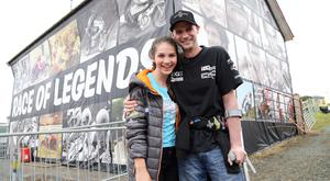 Ryan Farquhar and his daughter Keeley at Armoy road races yesterday