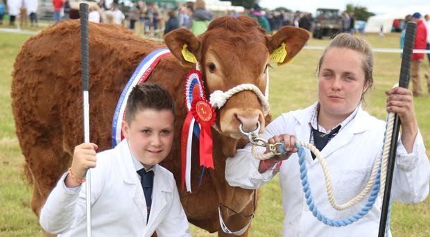 Rachel Robinson and Lee McKeegan at the Limavady Show