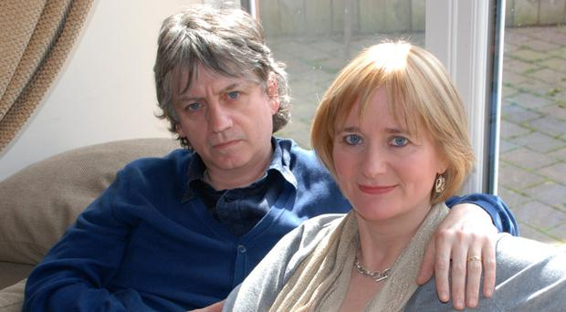 Musician Bap Kennedy with his wife Brenda