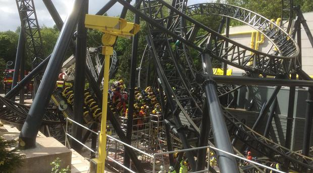 An accident on the Smiler ride at Alton Towers caused serious injuries