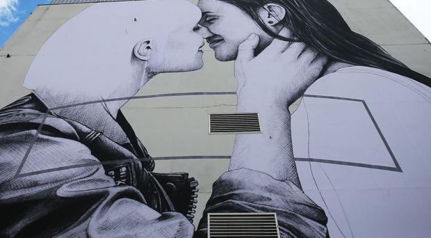 The mural is close to Belfast's city centre