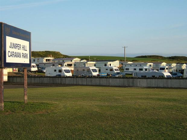 Steven McBride was stopped by police in Juniper Hill Caravan Park