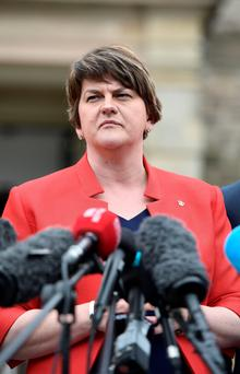 Talks: First Minister Arlene Foster