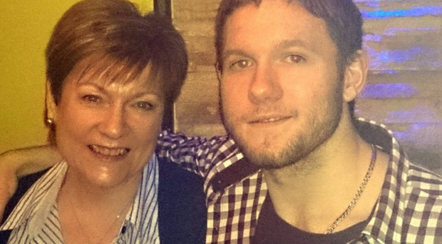 Deirdre Duffy with her son Conor who took his own life