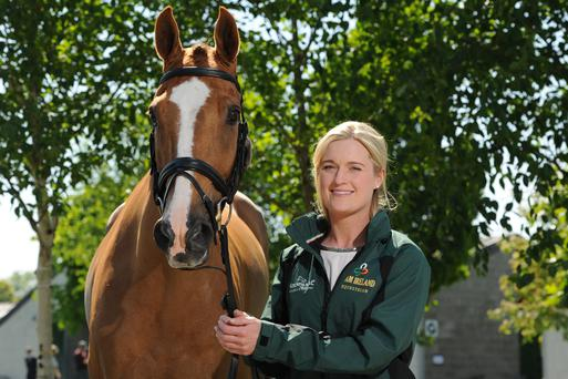 Olympic rider Clare Abbott with her horse Euro Prince