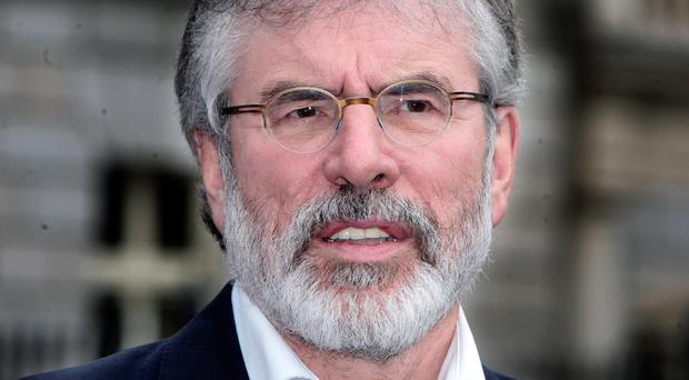Sinn Fein leader Gerry Adams. His party earned almost double the income of any other Northern Ireland party.