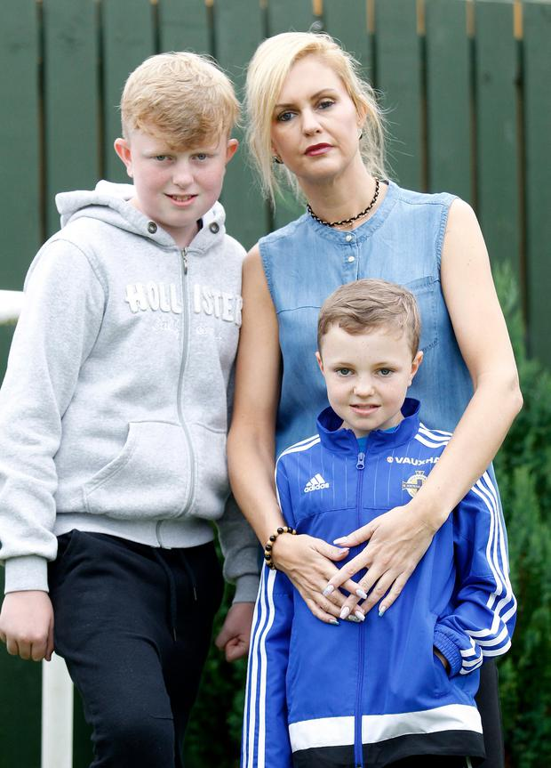 Aundrea Bannatyne with her two boys