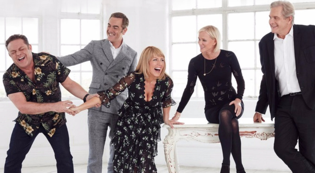 Cold Feet stars (from left) John Thomson, James Nesbitt, Fay Ripley, Hermione Norris and Robert Bathurst