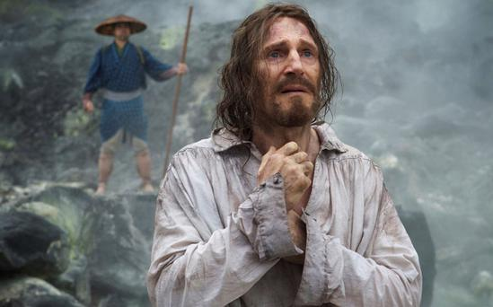 Neeson in a scene from his upcoming movie Silence which has been directed by Oscar winner Martin Scorsese