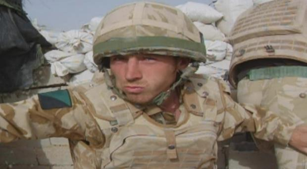 Belfast soldier Paul Johnston in scenes from the Channel 4 documentary to be shown next week