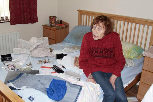 Ruth Pollock in her bedroom