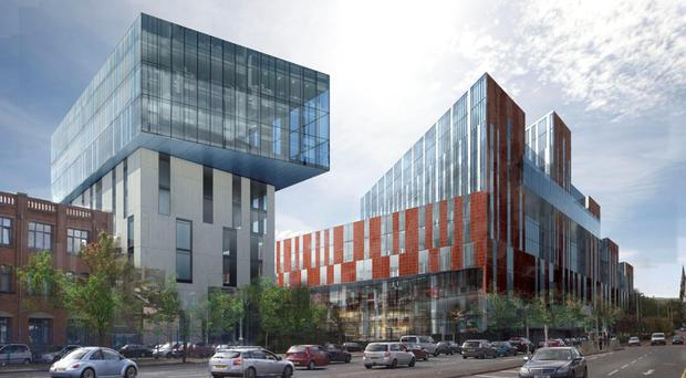 An artist's impression of the new University of Ulster campus (University of Ulster/PA Wire)