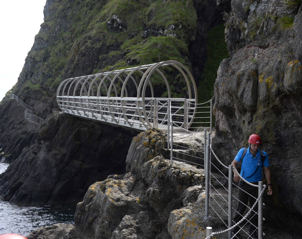 The Gobbins pathway in Co Antrim