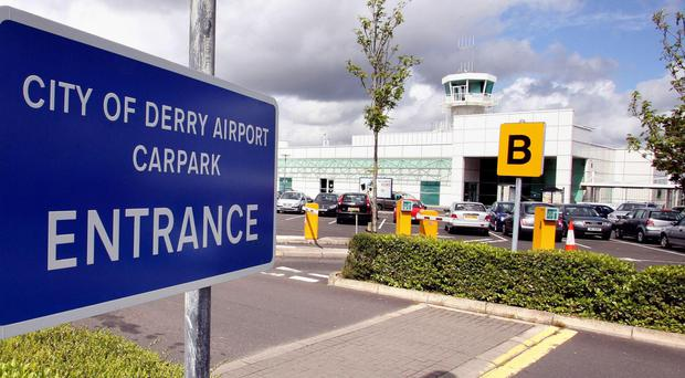 The women were arrested when the plane landed at the City of Derry airport