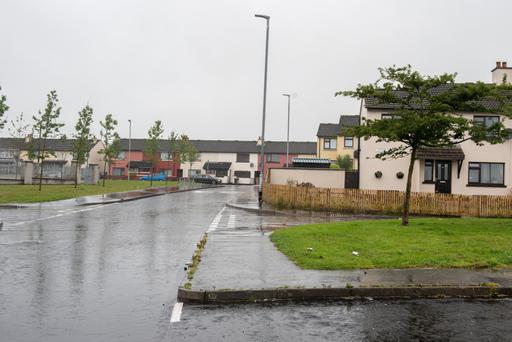 Rinmore Drive in Derry where a man was shot in the legs