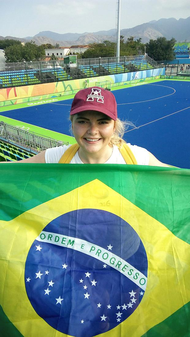 Rebekah Jones at the Olympic Park in Rio