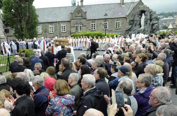 The funeral of Bishop Edward Daly at St Eugene's Cathedral