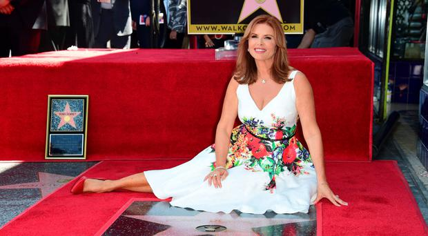 Roma Downey is honoured with a star on the Hollywood Walk of Fame