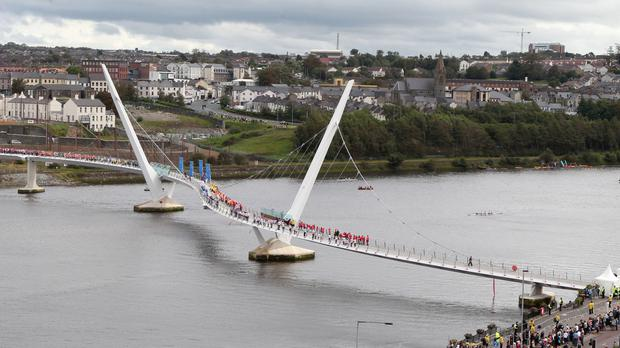 Londonderry's Peace Bridge is one project backed by EU funding