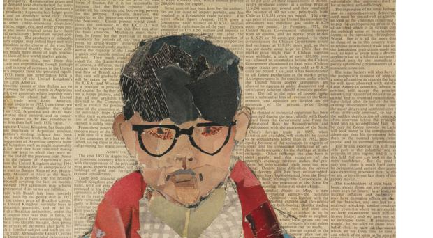 A collage on newsprint titled Self Portrait by David Hockney will be among the exhibits