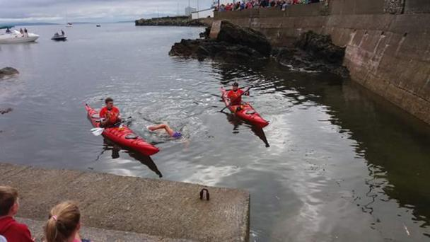 Una Casey from Derry, who successfully swam across Lough Foyle from Magilligan to Greencastle to raise funds for the foundation set up in honour of tragic Lisa Orsi