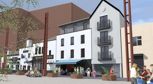 An artist's impression of what the hotel at Bank Square will look like